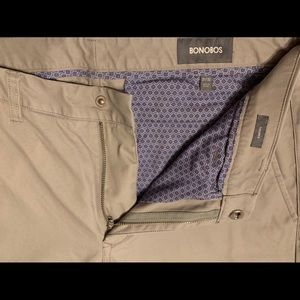 Bonobos Washed Chinos 31x32 Tailored Fit, Grey Dog